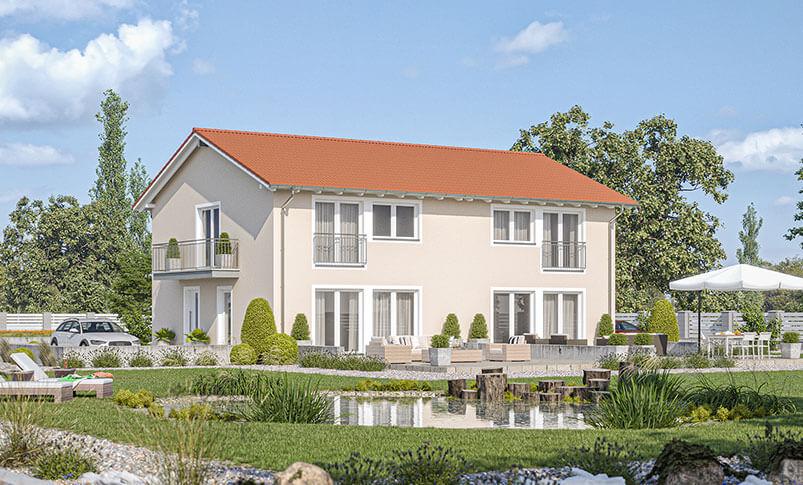 Haas D 112 C Doppelhaus Mit Satteldach Haas Fertighaus