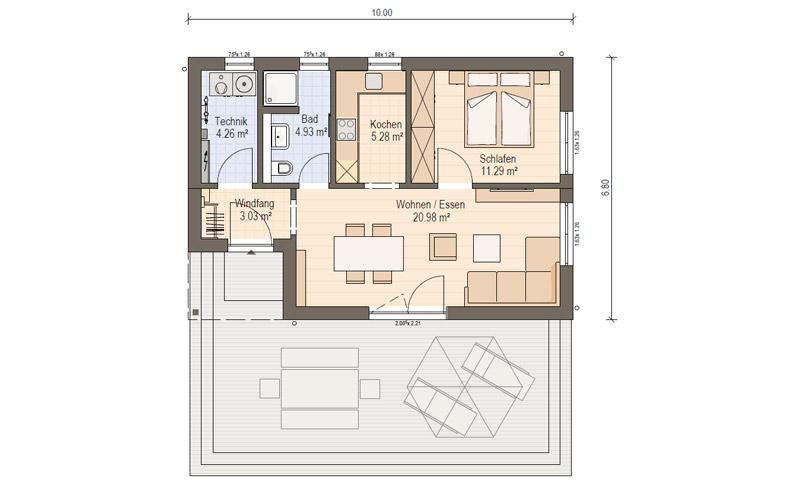 Haas FlexHome FH 50: Singlehaus Haas Fertighaus