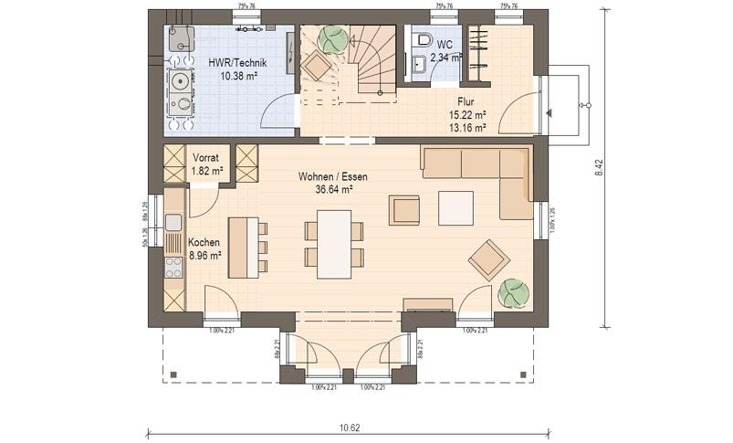 Haas S 140 D: Einfamilienhaus mit Pultdach ▷ Haas Fertighaus