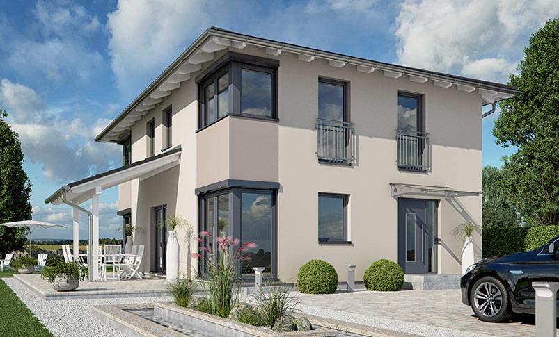 haas s 154 a modernes toskana haus haas fertighaus. Black Bedroom Furniture Sets. Home Design Ideas