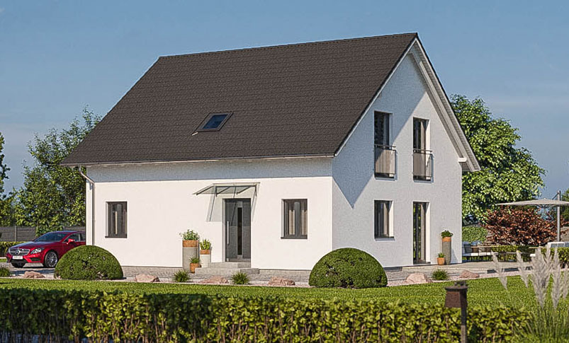 haas z 159 b kompaktes zweifamilienhaus haas fertighaus. Black Bedroom Furniture Sets. Home Design Ideas